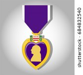 Purple Heart Medal Background.