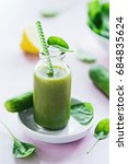 green smoothie | Shutterstock . vector #684835624