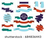 banners ribbons and badges set. ...   Shutterstock . vector #684836443