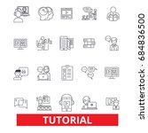 tutorials  learning  help ... | Shutterstock .eps vector #684836500