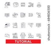 tutorials  learning  help ... | Shutterstock .eps vector #684836500