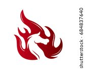 fire horse   Shutterstock .eps vector #684837640