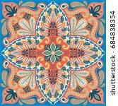 india paisley pattern ... | Shutterstock .eps vector #684838354