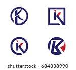 k letter logo template | Shutterstock .eps vector #684838990