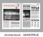 newspaper front page with... | Shutterstock . vector #684839818