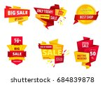 special offer abstract banners  ... | Shutterstock . vector #684839878