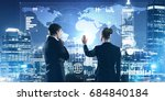 two business people standing... | Shutterstock . vector #684840184