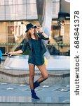 posh young girl posing like a... | Shutterstock . vector #684841378