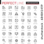 navigation thin line web icons... | Shutterstock .eps vector #684841459