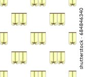 curtains with drapery on the...   Shutterstock .eps vector #684846340