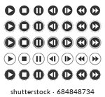 media player icon set of play ... | Shutterstock .eps vector #684848734