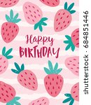 cute greeting card with... | Shutterstock .eps vector #684851446