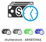 credit flat vector icon.... | Shutterstock .eps vector #684855466