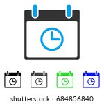 time calendar day flat vector... | Shutterstock .eps vector #684856840