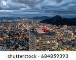 gifu city skyline at night  ... | Shutterstock . vector #684859393
