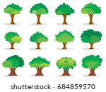 green tree natural   vector... | Shutterstock .eps vector #684859570