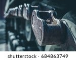 abstract image of tank tracks.... | Shutterstock . vector #684863749
