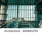 glass ceiling of architecture... | Shutterstock . vector #684865294