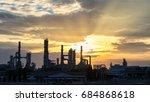gas turbine electrical power...   Shutterstock . vector #684868618