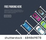 free parking here poster in... | Shutterstock .eps vector #684869878