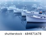 Maine Lobster Boats Moored At...