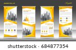 roll up banner stand template... | Shutterstock .eps vector #684877354