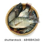 Fresh Tilapia Fish In Basket ...