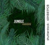 green summer tropical...   Shutterstock .eps vector #684885928