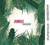 green summer tropical... | Shutterstock .eps vector #684885949
