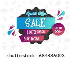 sale banner design. vector... | Shutterstock .eps vector #684886003