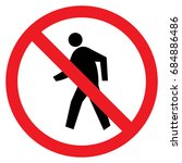no access for pedestrians... | Shutterstock .eps vector #684886486