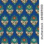 islamic textile. oriental... | Shutterstock .eps vector #684889000
