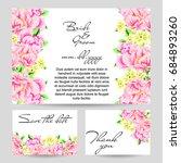 vintage delicate invitation... | Shutterstock .eps vector #684893260