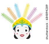 female ondel   ondel  jakarta   ...   Shutterstock .eps vector #684894289