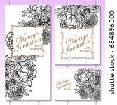 romantic invitation. wedding ... | Shutterstock . vector #684896500