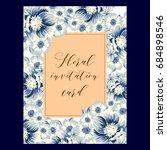 romantic invitation. wedding ...   Shutterstock . vector #684898546