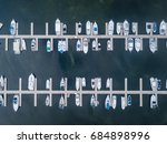 aerial view of boats in a marina | Shutterstock . vector #684898996