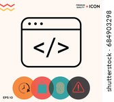 code editor icon | Shutterstock .eps vector #684903298