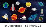 illustration of the universe.... | Shutterstock .eps vector #684904126