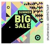 summer sale memphis style web... | Shutterstock .eps vector #684907669