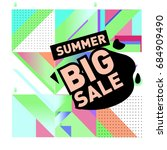 summer sale memphis style web... | Shutterstock .eps vector #684909490