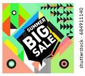 summer sale memphis style web... | Shutterstock .eps vector #684911140