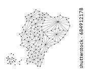 ecuador map of polygonal mosaic ...   Shutterstock .eps vector #684912178