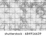 white brick wall antique...   Shutterstock . vector #684916639