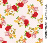 seamless floral pattern with... | Shutterstock .eps vector #684918466