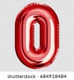 brilliant balloon font number 0 ... | Shutterstock . vector #684918484