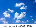 beautiful blue sky with clouds... | Shutterstock . vector #684919744