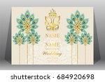 wedding invitation card...   Shutterstock .eps vector #684920698
