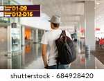 the man in the hat in the... | Shutterstock . vector #684928420