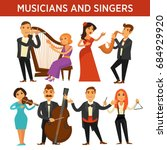 musicians with instrument and...   Shutterstock .eps vector #684929920